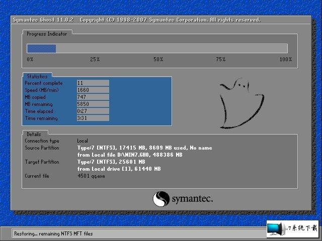 雨林木风 Ghost Win7 32位旗舰版 v2020.02