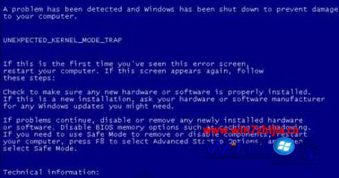 win7系统蓝屏死机提示错误代码Error C000009A的解决方法